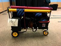 loaded gear cart